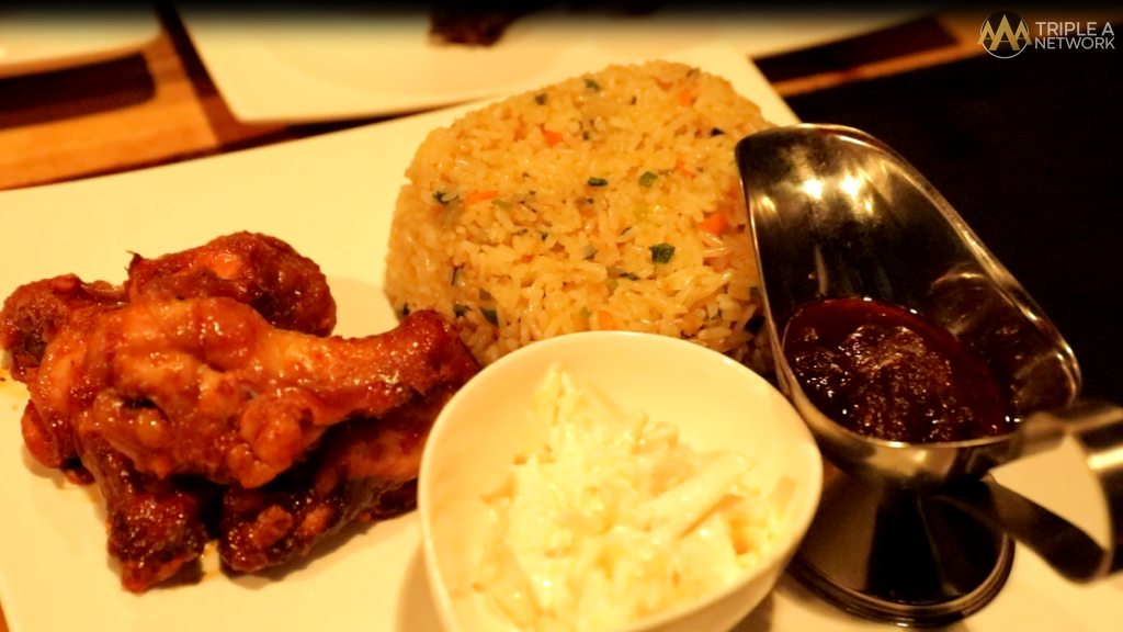 Best fried rice & BBQ chicken wings at